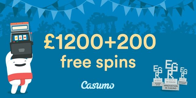 Casumo Online Casino with 100% Bonus up to £300 & 20 Spins